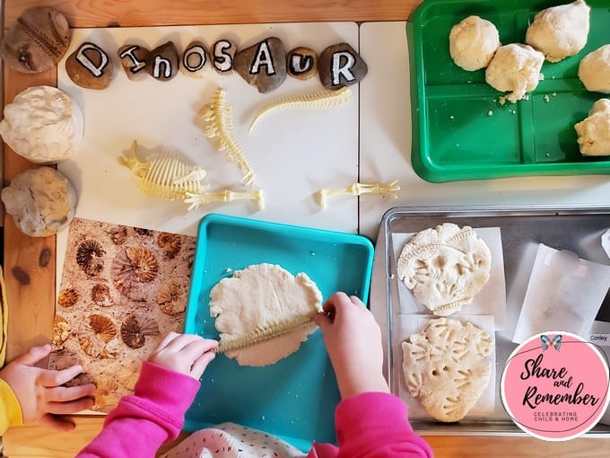 Salt dough fossils STEAM Station