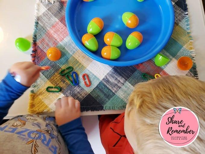 Dinosaur Eggs Preschool Activities math game.
