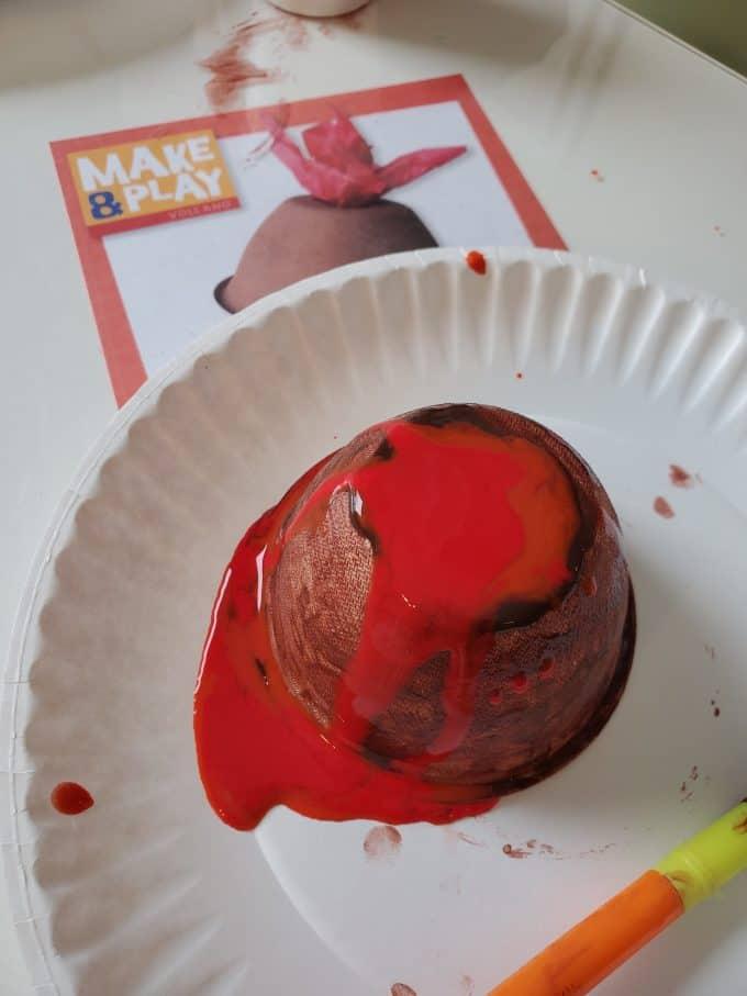 Paint on volcano art.