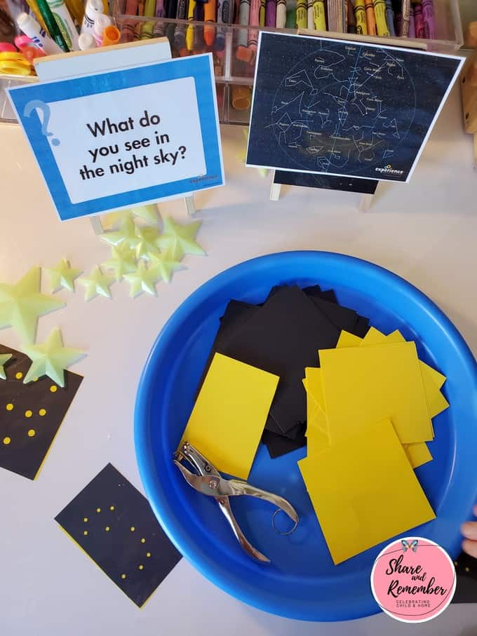 Constellation Design STEAM Set Up for Preschool