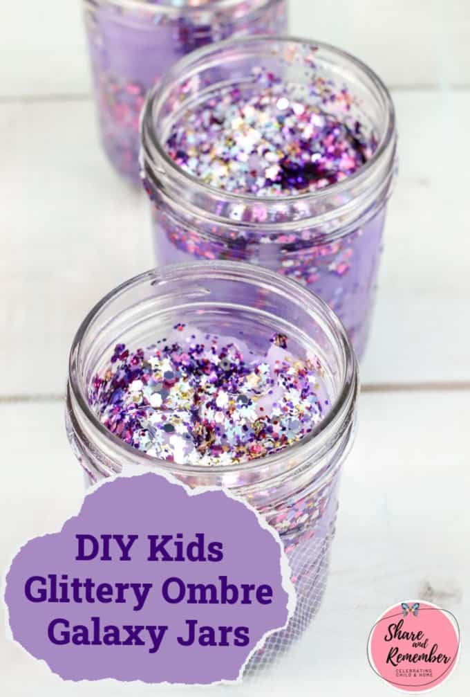 DIY Kids Glittery Ombre Galaxy Jars