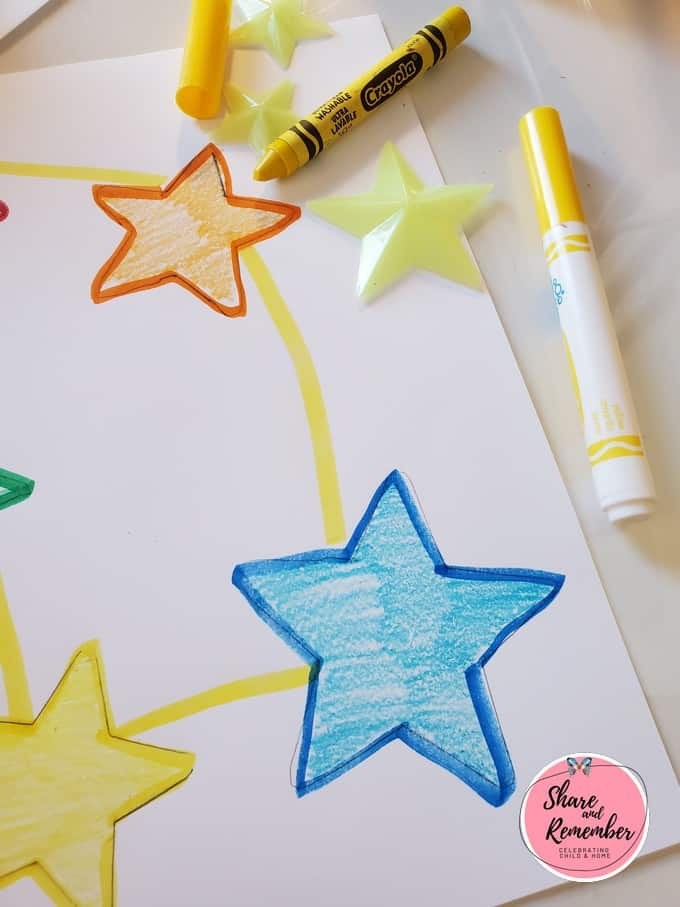 Preschool star drawings.