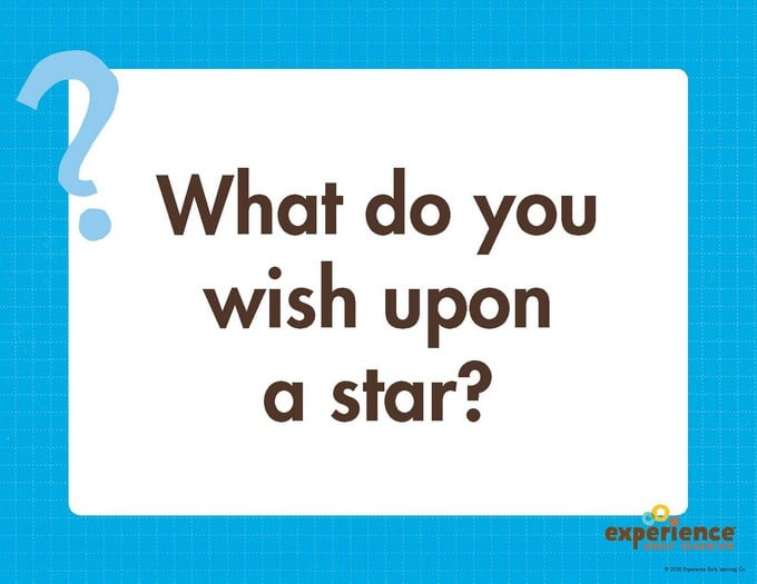 What do you wish upon a star? Big Question for STEAM Station.