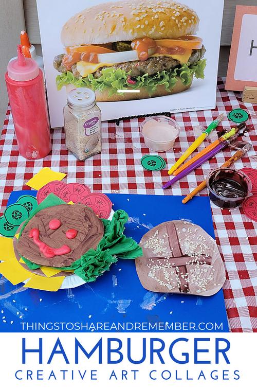 Hamburger Art - mixed media collages
