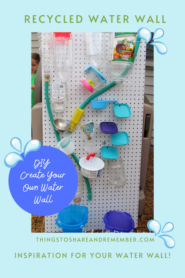 DIY Recycled Water Wall Activity Board for Kids Water Play