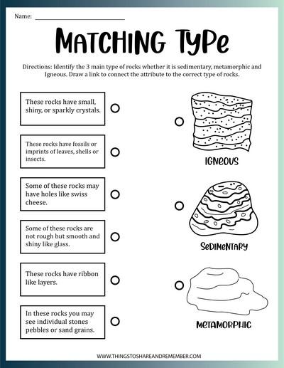 Matching Rock Types