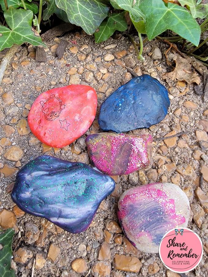 creative summer art kit painted rock set