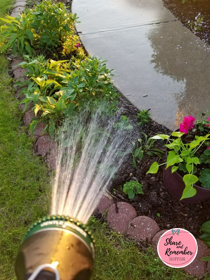 10+ Ways to Play with a Water Hose This Summer watering the garden